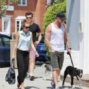 Miley Cyrus grabbed a bite to eat today, May 12, with her boyfriend, Liam Hemsworth in Studio City