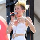Miley Cyrus puts on another provacative performance at the iHeartRadio Music Festival in Las Vegas
