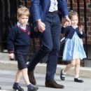 The Duke & Duchess Of Cambridge Depart The Lindo Wing With Their New Son - 454 x 475
