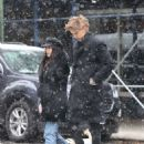 Vanessa Hudgens and Austin Butler – Walking under the snow in NYC