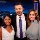 Yalitza Aparicio, Jimmy Kimmel and Marina de Tavira At The Jimmy Kimmel Live! - 454 x 340
