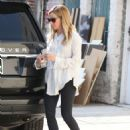 Ashley Tisdale Leaving A Salon In La