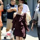 Rachel Bilson – On set of Extra in Los Angeles - 454 x 681