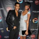 "Wendell Lissimore andSessliee Lopez attend Centric's ""Model City"" premiere party at DYLAN Prime Restaurant & Lounge on February 16, 2010 in New York City"