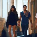 Adam Levine walking hand in hand with new girlfriend model Behati Prinsloo in the SoHo neighborhood of New York City (July 10)