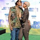 Amber Rose and Wiz Khalifa Attend The 2011 Bet Awards held at The Shrine Auditorium in Los Angeles, California - June 26, 2011 - 399 x 600
