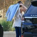 Lea Michele out for Lunch at the Soho House in Malibu