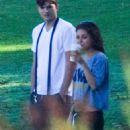 Mila Kunis and Ashton Kutcher: out together in Los Angeles