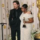 Christian Bale and Octavia Spencer At The 84th Annual Academy Awards - Press Room (2012) - 396 x 594