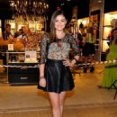 Lucy Hale at the Grand Opening of Henri Bendel at the Fashion Show mall (August 29)