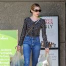 Emma Roberts – Grocery shopping at Gleson's Supermarket in Los Feliz