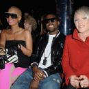 Amber Rose and Kayne West attend the Stella McCartney Ready-to-Wear A/W 2009 fashion show during Paris Fashion Week at Carreau du Temple in Paris, France -  March 9, 2009 - 454 x 304