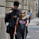 Lucy Fallon in Ripped Jeans – Out in Manchester - 454 x 736