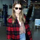 Jessica Biel at LAX International Airport in LA - 454 x 645