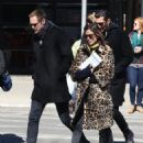 Alexa Chung & Alexander Skarsgard Out And About In NYC ( March 23, 2017) - 454 x 586