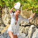 Lady Victoria Hervey – Wearing white bikini in Barbados - 454 x 706