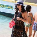 Andrea Corr in Black Bikini in Barbados - 454 x 714