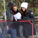Emmy Rossum and Julia Garner – Filming 'Modern Love' at a Brooklyn Park in NY - 454 x 597