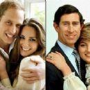 Prince William & Kate Middleton/Prince Charles & Lady Diana