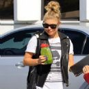 Fergie: leaving Eastwest Bank in Beverly Hills