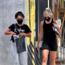 Vanessa Hudgens – See at Dogpound gym with a friend in West Hollywood