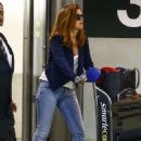 Isla Fisher–Arriving on a flight in Miami
