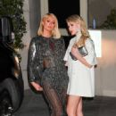 Paris Hilton – With Maria Bakalova at 2021 Oscar party at Sunset Tower Hotel in Los Angeles