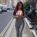 Carla Howe in Jumpsuit – Out and about in London - 454 x 655