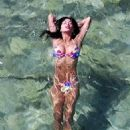 Nicole Scherzinger in Bikini on the beach in Mykonos