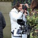 Michelle Keegan – on the set of 'Brassic' in Lancashire - 454 x 689