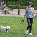 Lucy Hale–Takes her dog Elvis on a walk in Vancouver - 454 x 303