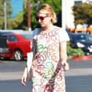Emma Roberts in Print Mini Dress – Out in Los Angeles