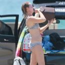 Helen Hunt Wearing Bikini In Malibu