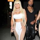 Blac Chyna Celebrating Her Birthday At Ace Of Diamonds In West Hollywood