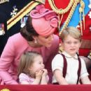 Prince Windsor and Kate Middleton : Trooping the Colour 2017