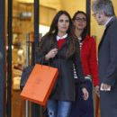 Jordana Brewster: shopping at the Hermes counter at Barney's New York in Los Angeles