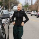 Gwen Stefani takes her family to church on January 15, 2017 in Los Angeles, California