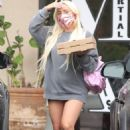 Lady Gaga – Leaving a restaurant with her boyfriend in Malibu