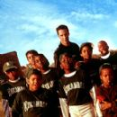 Front row: Julian Griffith, Brian Reed, DeWayne Warren; Middle Row: Bryan Hearne, Michael B. Jordan, Michael Perkins and A. Delon Ellis Jr.; Back row: Alexander Telles and Keanu Reeves in Paramount's Hardball - 2001 - 274 x 400