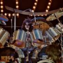 Eric Carr performs during the Unmasked Tour/New York City ⚡️ The Palladium, NYC on July 25, 1980