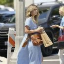 Chloe Bennet in Blue Dress – Shopping in Los Angeles
