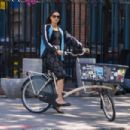 Famke Janssen – Riding her bike in New York City