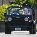 Sophie Turner and Joe Jonas – Driving around their neighborhood in Los Angeles