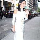 Jenna Dewan Tatum in White Dress out in New York City - 454 x 655