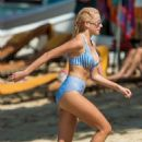 Pixie Lott in Bikini on a beach in Barbados adds