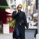 Rita Ora in Long Black Coat – Out in New York City