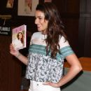 Lea Michele You First Book Signing Held At The Barnes Noble In La