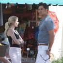 Emma Roberts and John Stamos – On the Set of 'Scream Queens' in LA 7/27/2016