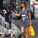 Helena Christensen – With Her Dog out in New York - 454 x 571