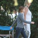 Emma Watson On The Set Of The Circle In Pasadena